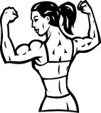 Stylized Female flexer Stock Images