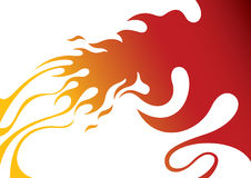 Stylized fire Stock Photos