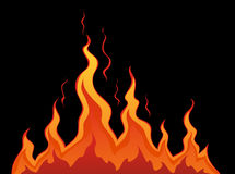 Stylized fire. On a black background Royalty Free Stock Photos