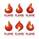 Stylized fire flame emblems for your logo design. Stylized fire flame emblems for your logo, label, symbol Stock Photo