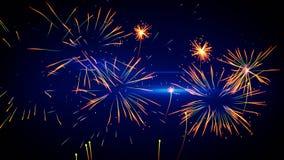 Stylized fireworks illustration Royalty Free Stock Images