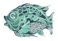 Stylized fish Stock Images