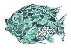Stylized fish Stock Images