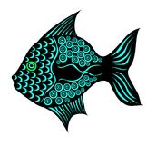Stylized fish Royalty Free Stock Photography