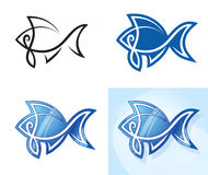 Stylized fish set. Illustration Stock Image