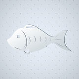 Stylized fish skeleton Royalty Free Stock Image