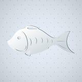 Stylized fish skeleton. Business icon Royalty Free Stock Image