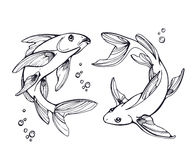 Stylized fishes. Royalty Free Stock Photos