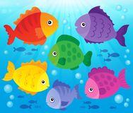 Stylized fishes theme image 3 Stock Photography