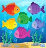 Stylized fishes theme image 2 Royalty Free Stock Images