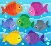 Stylized fishes theme image 1 Stock Images