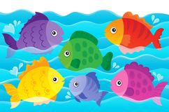 Stylized fishes theme image 4 Royalty Free Stock Photos