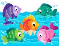 Stylized fishes theme image 5 Royalty Free Stock Images