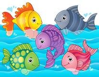 Stylized fishes theme image 7 Royalty Free Stock Photography