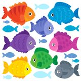 Stylized fishes theme set 1 Stock Photo