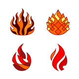 Stylized flame Royalty Free Stock Images