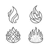 Stylized flame. Decorative element - suitable for use in Logo Design Royalty Free Stock Photos