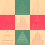 Stylized flat vector Christmas trees icons Stock Photo