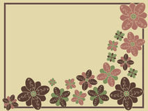 Stylized Floral. A decorative background with stylized floral pattern stock illustration