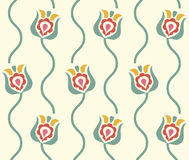 Stylized floral background. Retro seamless pattern Stock Photo