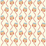 Stylized floral background. Retro seamless pattern Royalty Free Stock Photography