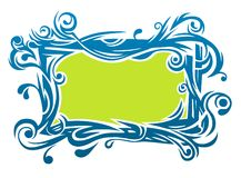 A stylized floral border Stock Photo