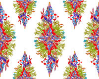 Stylized floral bouquet pattern Stock Photos