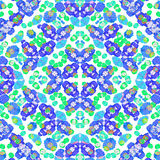 Stylized Floral Check Seamless Pattern Royalty Free Stock Image