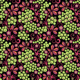 Stylized floral design. Seamless. Royalty Free Stock Images