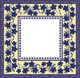 Stylized floral frame Royalty Free Stock Photos