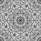 Stylized floral medieval pattern. Royalty Free Stock Photos
