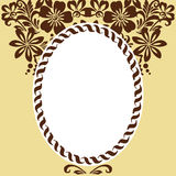 Stylized floral ornament Royalty Free Stock Images