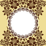 Stylized floral ornament Royalty Free Stock Photo