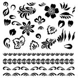 Stylized floral ornament Stock Photo