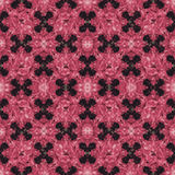 Stylized Floral Ornate Check Seamless Pattern Stock Images