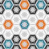Stylized floral pattern. Seamless stylized floral pattern. Bright Stock Photo