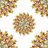 Stylized floral seamless pattern Stock Photography