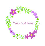 Stylized floral wreath Royalty Free Stock Images