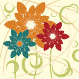 Stylized Flower background Royalty Free Stock Photos