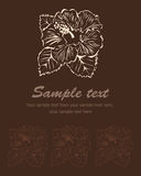 Stylized flower broun background. Vector hibiscus. Stylized flower broun background. Vector illustration, hibiscus Royalty Free Illustration
