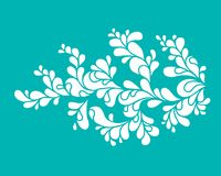 Stylized flower drawing. A stylized vintage flower drawing Royalty Free Stock Photography