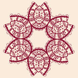Stylized flower. Ornamental outline mandala. Royalty Free Stock Photo