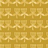 Stylized Flower Stripes Seamless Vector Pattern. Folk Art Floral . Hand Drawn Boho. Scandi Style Illustration for Trendy Damask Textile Print, Decorative Garden vector illustration