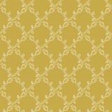 Stylized Flower Trellis Seamless Vector Pattern. Folk Floral Quilt. Decorative tile royalty free illustration