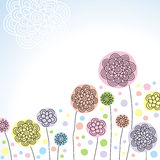 Stylized flowers Royalty Free Stock Photos