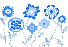 Stylized flowers Royalty Free Stock Images