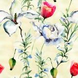 Stylized flowers illustration Royalty Free Stock Photo