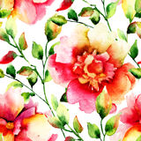 Stylized flowers illustration Stock Photo