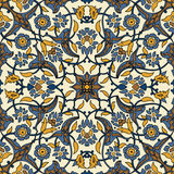 Stylized flowers oriental wallpaper retro seamless abstract back Stock Photos