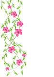 Stylized flowers ornament Royalty Free Stock Photography